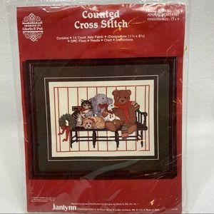 "Vintage Janlynn Counted Cross Stitch Kit ""Animal Portrait""  12"" x 9"" New/Sealed"